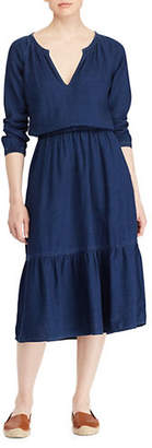 Lauren Ralph Lauren Quarter-Sleeve Midi Dress