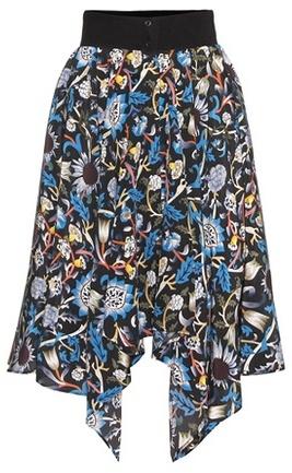 J.W.Anderson Printed silk skirt