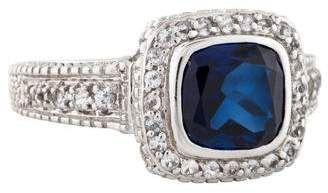 Judith Ripka Synthetic Sapphire & Topaz Cocktail Ring