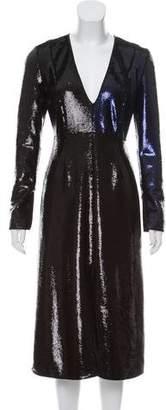 Diane von Furstenberg Sequin Midi Dress w/ Tags