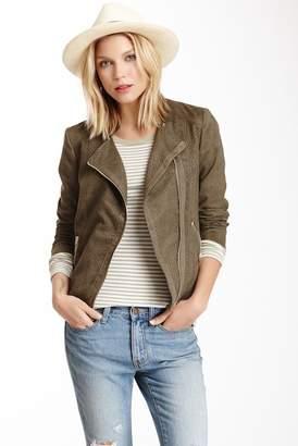 Kensie Perforated Zip Front Scuba Jacket