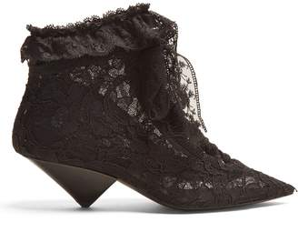 Blaze point-toe ruffle-trimmed boots