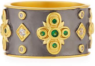 Freida Rothman Cubic Zirconia Floral Cigar Band Ring, Size 6