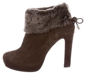 Max MaraMaxMara Shearling-Trimmed Ankle Boots