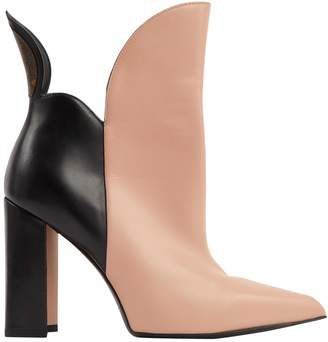 Louis Vuitton Pink Leather Boots