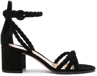 Gianvito Rossi Braided Suede Liya Sandals