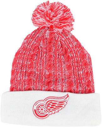 Authentic Nhl Headwear Women Detroit Red Wings Iconic Ace Knit Hat