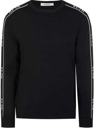 VALENTINO Tape Logo Knitted Sweater