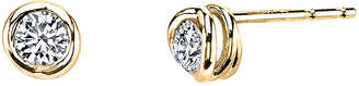 Sirena 1/5 CT. T.W. Diamond 14K Yellow Gold Stud Earrings