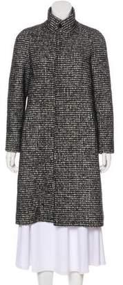 Saint Laurent Knee-Length Virgin Wool & Alpaca-Blend Coat