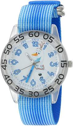 Disney Boy's 'Frozen' Quartz Plastic and Nylon Automatic Watch, Color: (Model: W002989)