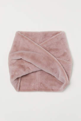 H&M Faux Fur Tube Scarf - Pink