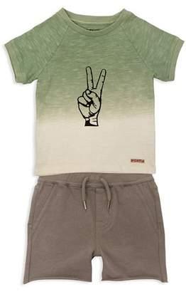 Hudson Boys' Peace Sign Tee & Shorts Set - Little Kid