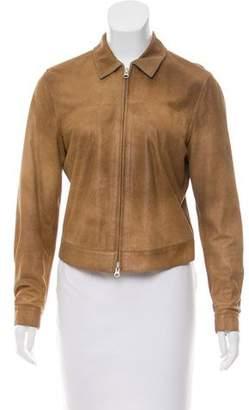 Brunello Cucinelli Cashmere-Lined Suede Jacket