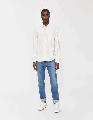 Our Legacy Classic Silk Noil Button-Up Shirt in White
