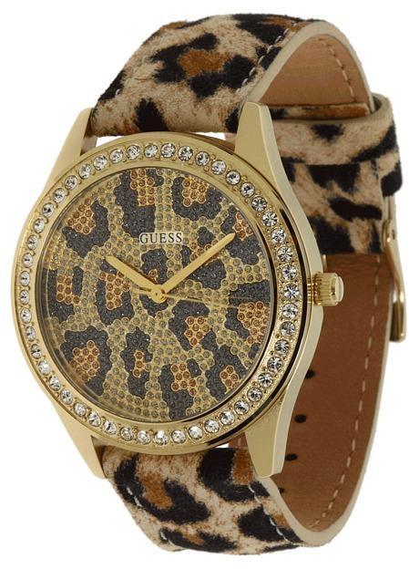 GUESS U85109L1 (Gold Dial/ Leopard Band) - Jewelry