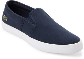 Lacoste Navy Canvas Slip-On Shoes