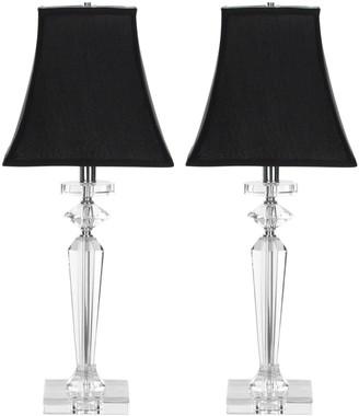 Safavieh 2-piece Harlow Crystal Table Lamp Set