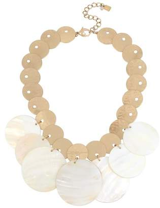 Robert Lee Morris Soho Two-Tone Disc Statement Necklace, 17""