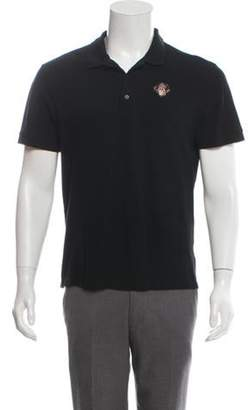 Givenchy Rottweiler-Embroidered Polo Shirt black Rottweiler-Embroidered Polo Shirt