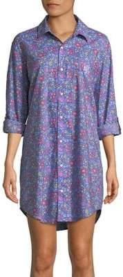 Lauren Ralph Lauren Floral Button-Down Sleep Shirt