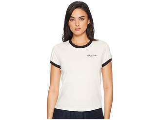 7 For All Mankind Embroidered Baby Ringer Tee Taking It All In Women's T Shirt
