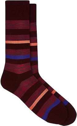 Barneys New York Men's Mixed-Stripe Mid-Calf Socks $35 thestylecure.com