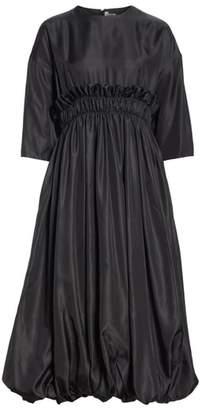 Noir Kei Ninomiya Ruched Waist Twill Dress