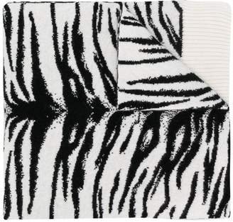 Laneus zebra print scarf