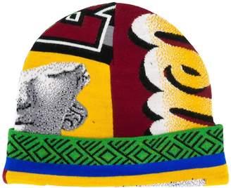 Frankie Morello graphic intarsia beanie hat