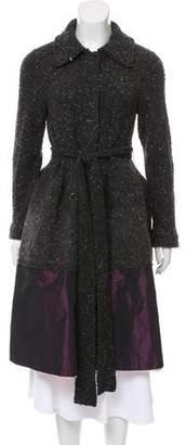 Sacai Wool-Blend Textured Coat