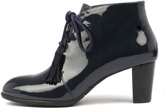 Django & Juliette Airwave Navy Boots Womens Shoes Dress Ankle Boots