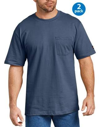 Dickies Genuine Big Men's Short Sleeve Heavy Weight Pocket T-Shirt, 2 Pack