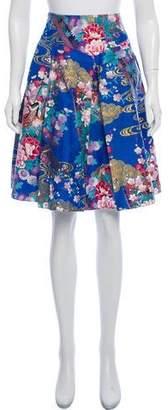 Behnaz Sarafpour Printed Knee-Length Skirt