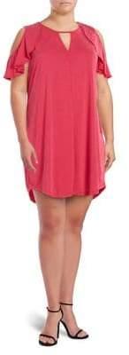 Jessica Simpson Plus Pearlie Cold Shoulder Dress