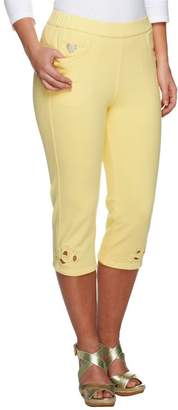 Factory Quacker DreamJeannes Open Bloom Cut-Out Capri Pants