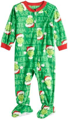 f6f7bcfb48 Baby Infant Jammies For Your Families How the Grinch Stole Christmas Grinch Microfleece  Blanket Sleeper