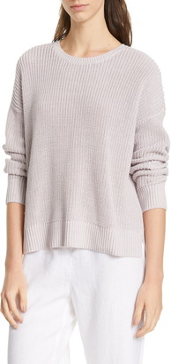Eileen Fisher Boxy Organic Cotton Sweater