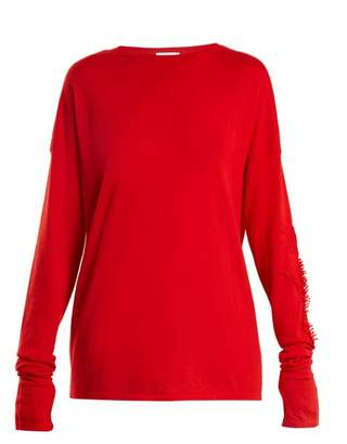 Barrie - Thistle Crew Neck Cashmere Sweater - Womens - Red