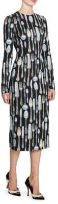 Dolce & Gabbana Utensil Print Dress