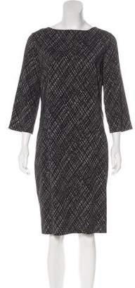 Michael Kors Printed Long Sleeve Dress