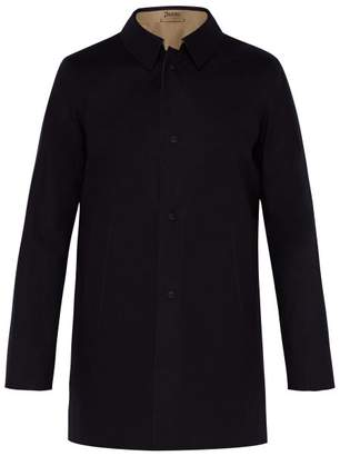 Herno Reversible Lazer Cut Cotton Overcoat - Mens - Navy Multi