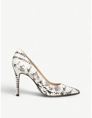 MICHAEL Michael Kors Claire snake-embossed leather courts