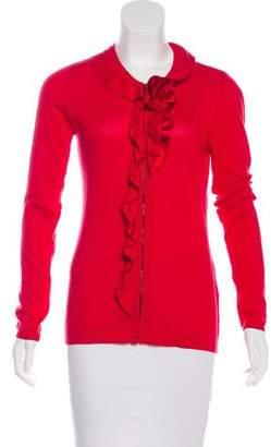 T Tahari Zip-Up Knit Cardigan