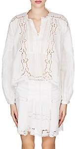 Isabel Marant Women's Maly Embroidered Voile Blouse - White