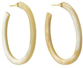 Soko Oval Horn Hoop Earrings