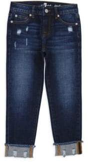 7 For All Mankind Little Girl's & Girl's Josefina Cuffed Jeans