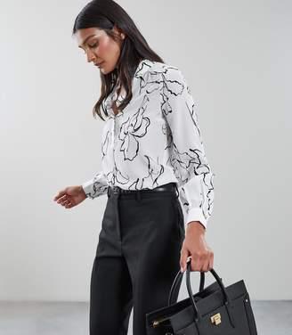 Reiss Narissa Silk Floral Printed Shirt