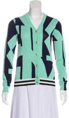 Kenzo Geometric Long Sleeve Cardigan