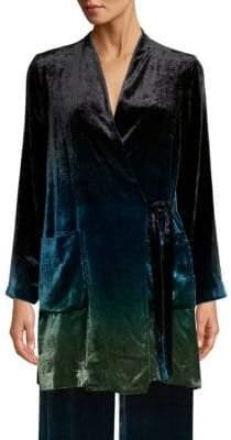 Beatrice. B Velvet Ombré Tie Front Jacket